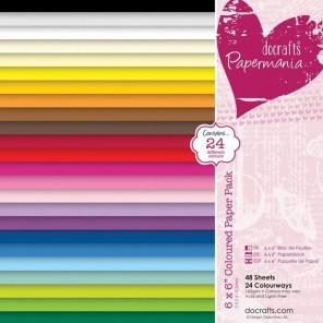 24 цвета Набор бумаги 15х15см для скрапбукинга, кардмейкинга Docrafts
