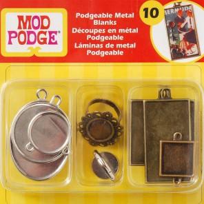 Металлические основы для украшений-подвесок Mod Podge Plaid