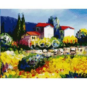 Цветочные поля  Алмазная вышивка (мозаика) Iteso