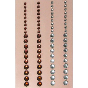 Янтарно-серебристые Стразы самоклеющиеся для скрапбукинга, кардмейкинга Рукоделие