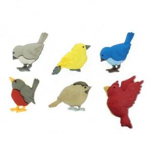 Feathered Friends Пуговицы декоративные Jesse James & Co