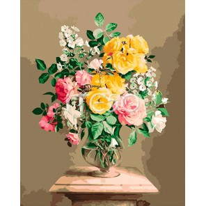 Букет из роз Вдохновение Раскраска по номерам акриловыми красками на холсте Iteso