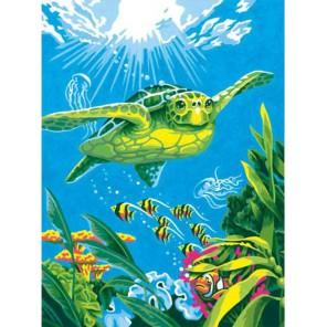 Морская черепаха Раскраска (картина) по номерам Dimensions