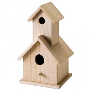 Двухэтажный скворечник Заготовка деревянная 12741 Plaid