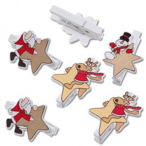 Звезды Рождества Прищепки  декоративные Knorr Prandell