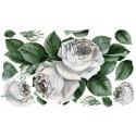 Цветы Розы белые 539 Рисовая декупажная карта Ferrario