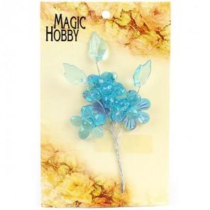 Цветы акриловые MAGIC HOBBY арт.TBY-LST-2 цв.4 бирюза