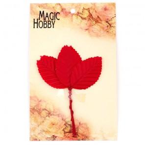 Листочки декоративные MAGIC HOBBY арт.TBY-L10 уп.10шт цв. красный