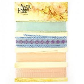 Персиково-голубой Набор лент MAGIC HOBBY