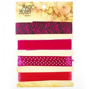 Розовый в белый горошек и зебра Набор лент MAGIC HOBBY