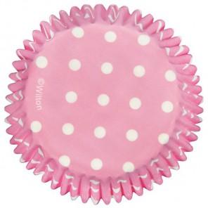 Светло-розовый горох Набор бумажных форм для кексов Wilton ( Вилтон )
