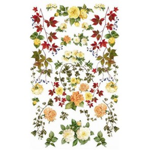 Цветы Розы желтые 514 Рисовая декупажная карта Ferrario