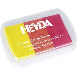 Желто-красные тона Штемпельная подушка Heyda