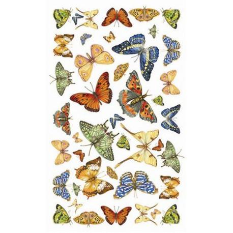 Насекомые Бабочки 533 Рисовая декупажная карта Ferrario