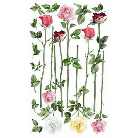 Цветы Роза длинная 550 Рисовая декупажная карта Ferrario