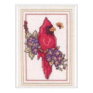 Набор для вышивания: Птица Кардинал, счетный крест