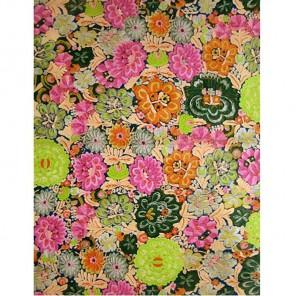 Цветы розово-бирюзовые Бумага для декопатча Decopatch