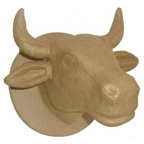 Голова быка Фигурка средняя из папье-маше объемная Decopatch