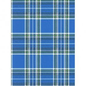 Клетка шотландка синяя Бумага для декопатча Decopatch
