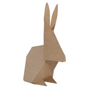 Кролик-оригами Фигурка средняя из папье-маше объемная Decopatch