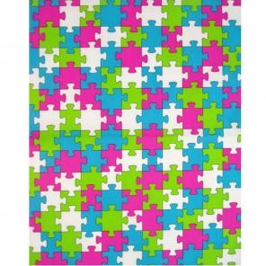 Пазлы розовый, голубой, салатовый Бумага для декопатча Decopatch