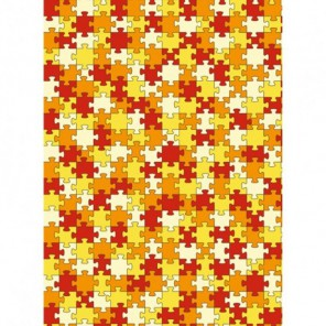 Пазлы желтый, оранжевый, красный Бумага для декопатча Decopatch