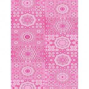 Узор кружочки розовые Бумага для декопатча Decopatch