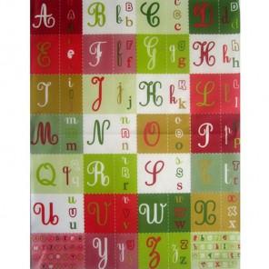 Алфавит латинский красно-зеленый Бумага для декопатча Decopatch