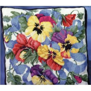 Прекрасные анютки Набор для вышивания Гобелен Bucilla