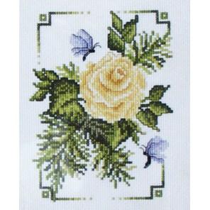 Желтая роза Набор для вышивания Cчетный крест Bucilla