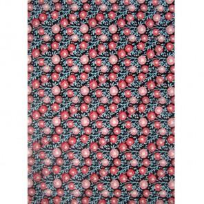 Розовые цветы на черном Бумага для декопатча Decopatch