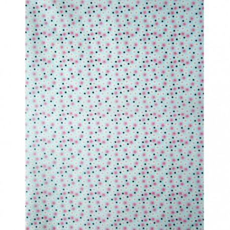 Точки и цветочки на голубом Бумага для декопатча Decopatch
