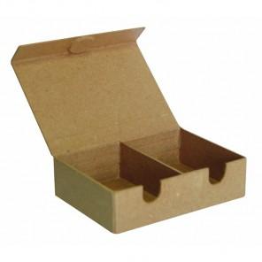 Коробка-сортировщик 2 отделения Заготовка из папье-маше объемная Decopatch