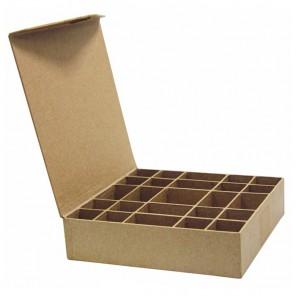 Коробка-сортировщик 25 отделений Заготовка из папье-маше объемная Decopatch