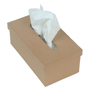 Прямоугольная коробка-салфетница Заготовка из папье-маше объемная Decopatch