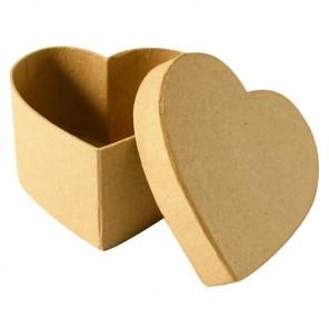 Коробка-сердечко Заготовка из папье-маше объемная Decopatch