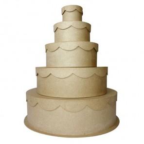 Коробки торт Набор заготовок из папье-маше объемных Decopatch