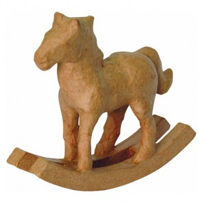 Лошадка-качалка Фигурка мини из папье-маше объемная Decopatch