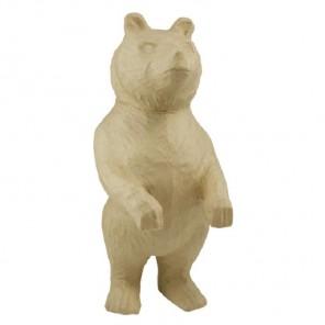 Медведь стоит Фигурка большая из папье-маше объемная Decopatch