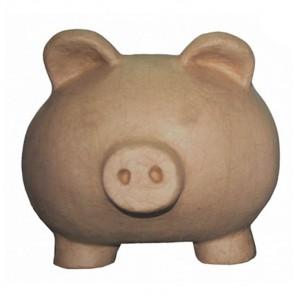 Свинья-копилка Фигурка большая из папье-маше объемная Decopatch