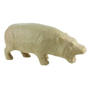 Бегемот Фигурка маленькая из папье-маше объемная Decopatch