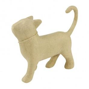 Кошка гуляет Фигурка маленькая из папье-маше объемная Decopatch
