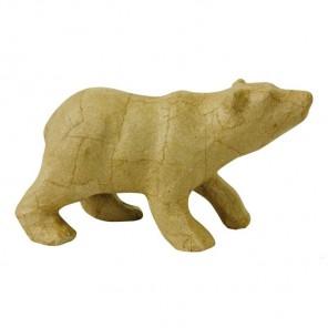 Полярный медведь Фигурка маленькая из папье-маше объемная Decopatch