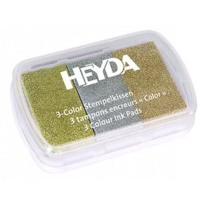 Металлические оттенки Штемпельная подушечка Heyda