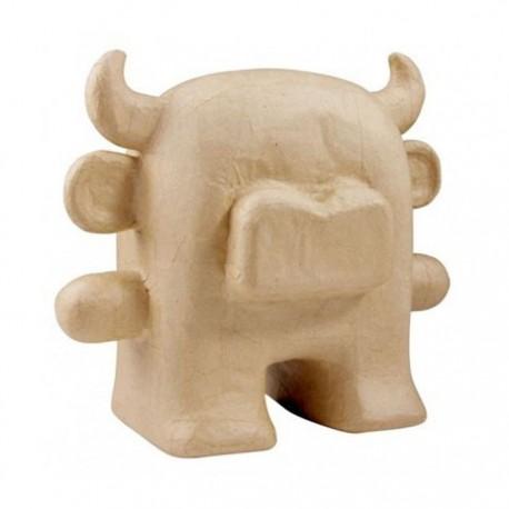 Бык-игрушка Фигурка маленькая из папье-маше объемная Decopatch