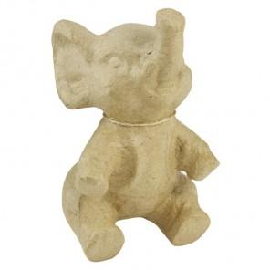 Слоник сидит Фигурка маленькая из папье-маше объемная Decopatch