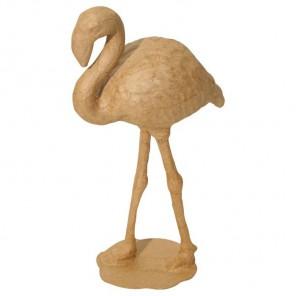 Фламинго Фигурка маленькая из папье-маше объемная Decopatch