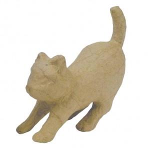 Кошечка тянется Фигурка мини из папье-маше объемная Decopatch