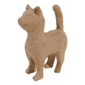 Кошка хвост вверх Фигурка мини из папье-маше объемная Decopatch