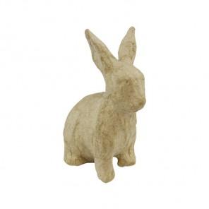 Кролик сидит Фигурка мини из папье-маше объемная Decopatch